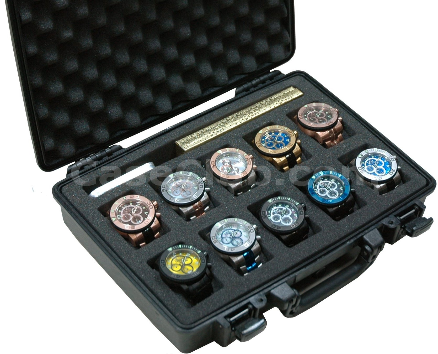 Pelican 1470 Case Custom Foam Example: 10 Watch