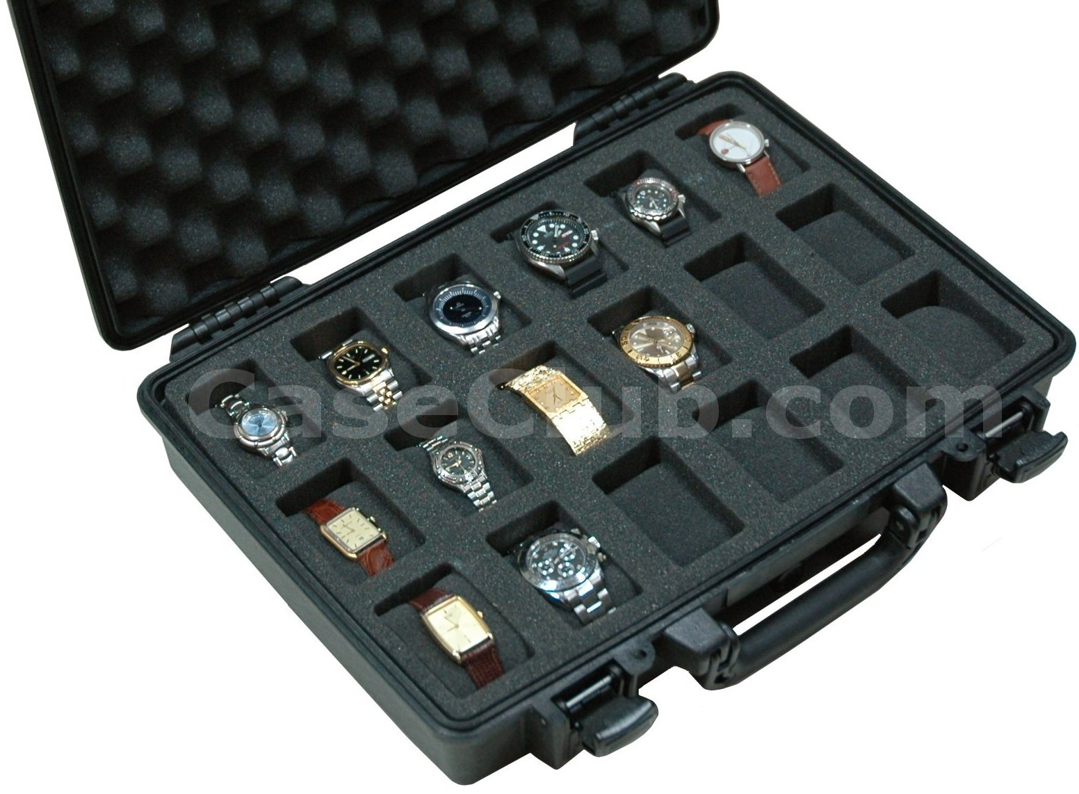Pelican 1470 Case Custom Foam Example: 18 Watch Case