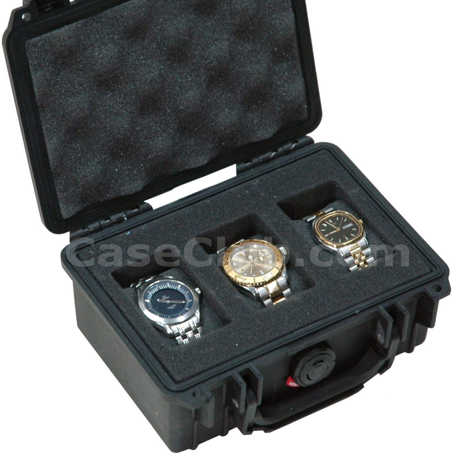 Pelican™ 1120 Case Custom Foam Example: 3 Watch Case
