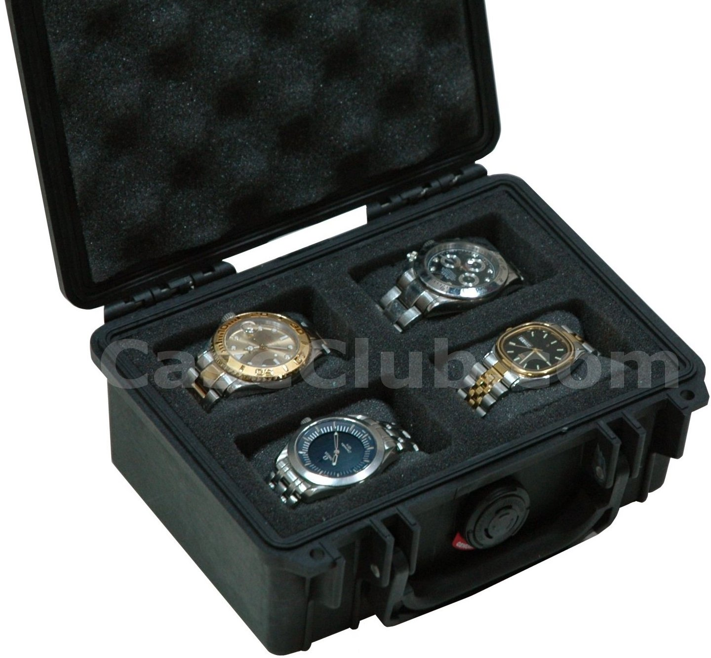 Pelican 1120 Case Custom Foam Example: 4 Watch Case