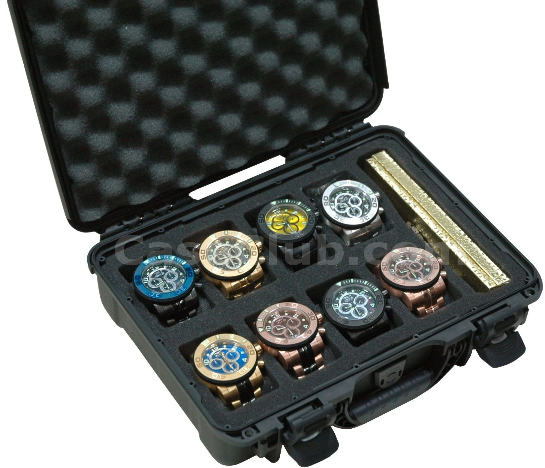 Case Club CC910PC Case Custom Foam Example: 8 Watch