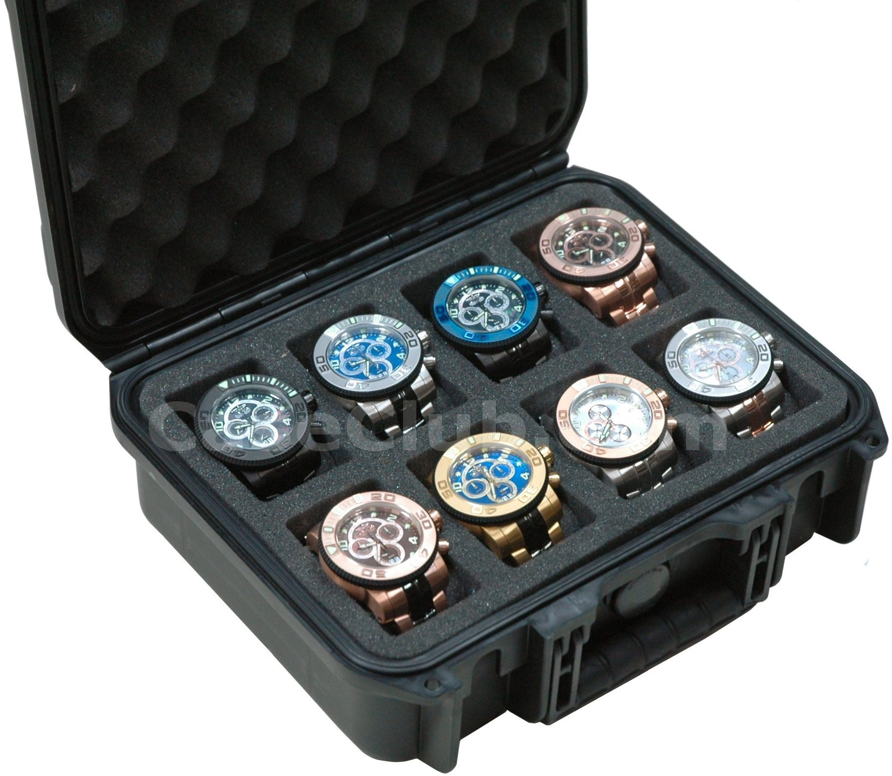 Case Club CC120943ISK Case Custom Foam Example: 8 Watch Case