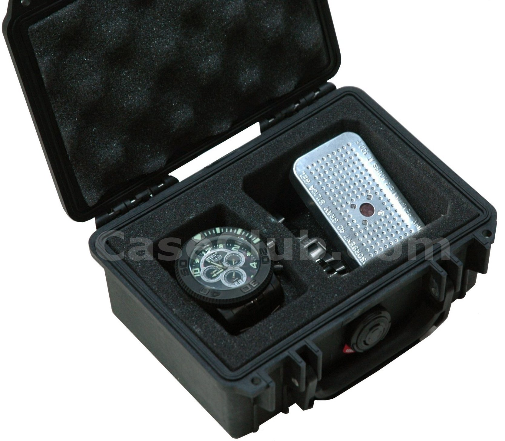 Pelican™ 1120 Case Custom Foam Example: Single Watch