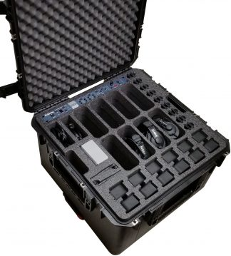 Case Club CC2424143ISK Case Custom Foam Example: Clear-Com HME DX210 Dual Channel Wireless Intercom Case