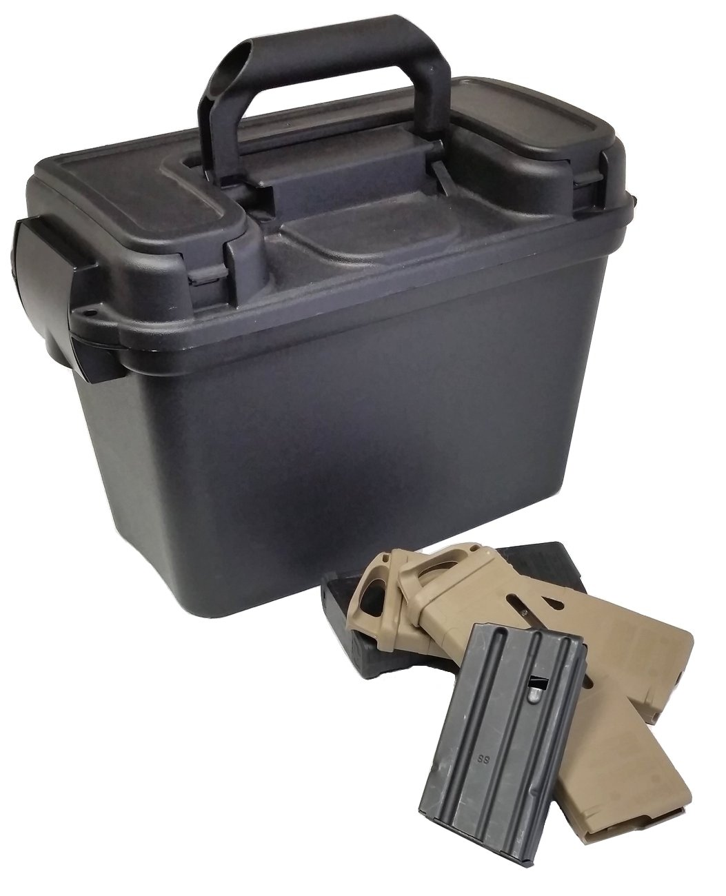 x20 AR15 Magazine ( 223/5 56) Water-Resistant Box with Spare Accessory  Compartment - Case Club Cases