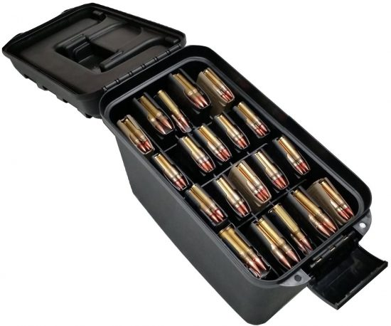 x20 AR15 Magazine (.223/5.56) Water-Resistant Box with Accessory Compartment - Foam Example