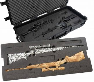 Case Club CC471983ISK Case Custom Foam Example: 2 Hunting Rifle And 2 AR Rifle Case