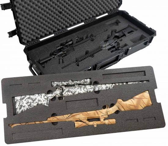 2 Hunting Rifle and 2 AR Rifle Case - Foam Example