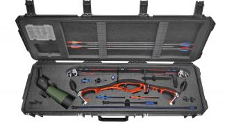 SKB 3I-5014-6 Case Custom Foam Example: HOYT Alpha Elite Bow Case