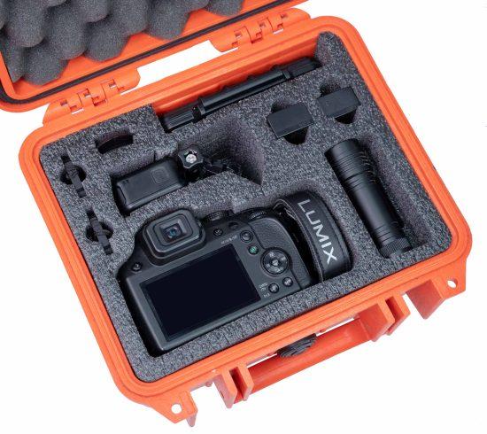 Lumix FZ80 and GoPro Case - Foam Example
