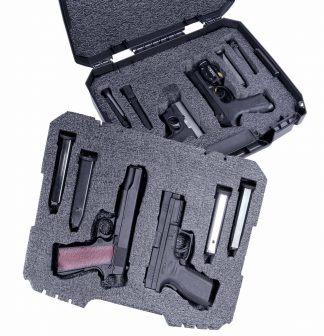 Case Club CC6792CCFL Case Custom Foam Example: 4 Pistol Carry Case
