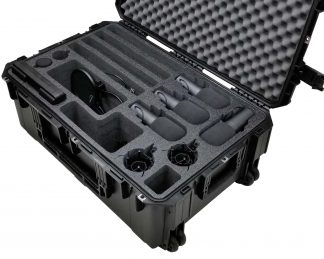 SKB 3I-3019-12 Case Custom Foam Example: 4-Person Podcast Travel Case