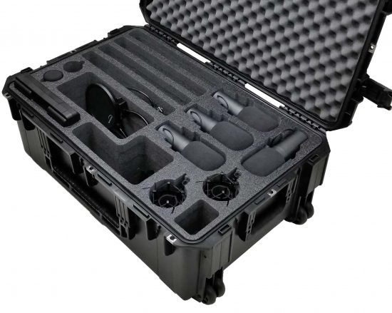 4-Person Podcast Travel Case - Foam Example