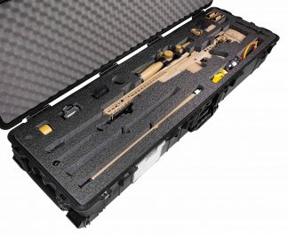 Pelican™ 1770 Case Custom Foam Example: Accuracy International AXMC Rifle Case