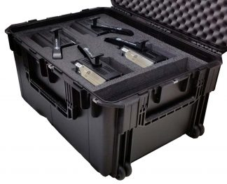SKB 3I-2922-16 Case Custom Foam Example: UV COB Cannon Case