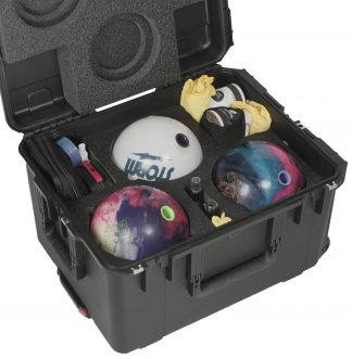 Case Club CC2217123ISK Case Custom Foam Example: Triple Bowling Ball Case