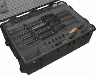 Pelican™ 1730 Case Custom Foam Example: 5 AR15 Rifle