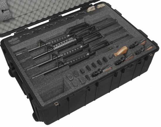 5 AR15 Rifle & 5 Pistol Case - Foam Example