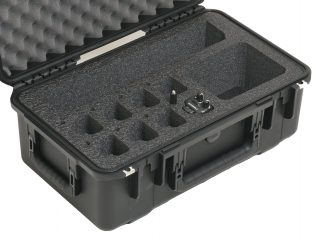 SKB 3I-2011-8 Case Custom Foam Example: Qty 8 Motorola CP185 Radio Case