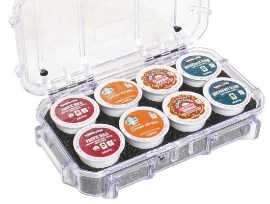 Waterproof 8 Keurig Coffee Pod Case - Foam Example
