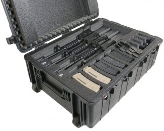 Pelican™ 1730 Case Custom Foam Example: 4 Rifle