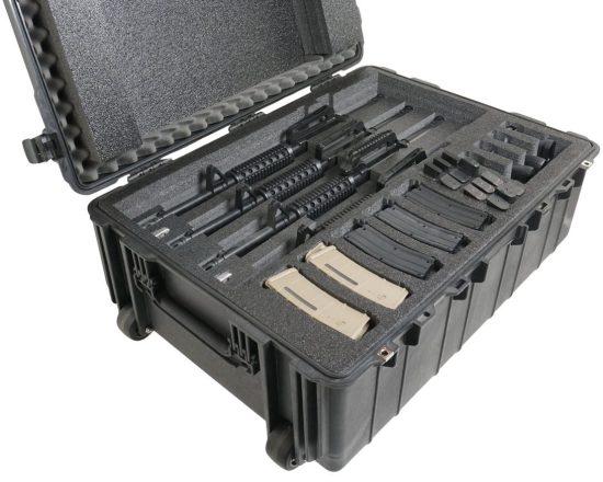 4 Rifle & 4 Pistol Case - Foam Example