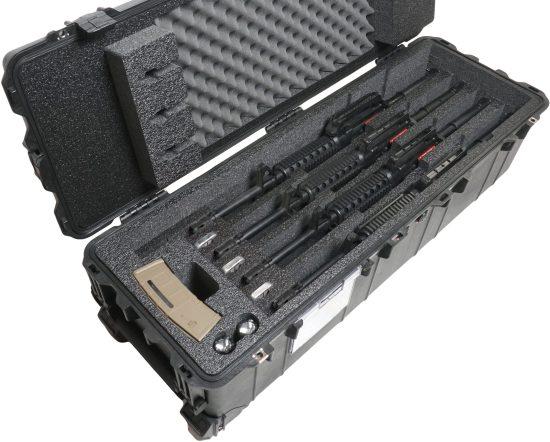 4 AR15 Mid Length Rifle Case - Foam Example