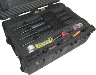 Pelican™ 1730 Case Custom Foam Example: 4 AR15, 4 Pistol,