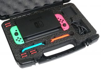 Case Club CC6780TCFL Case Custom Foam Example: Nintendo Switch Compact Carry Case
