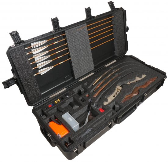 Custom Recurve Bow Case - Foam Example