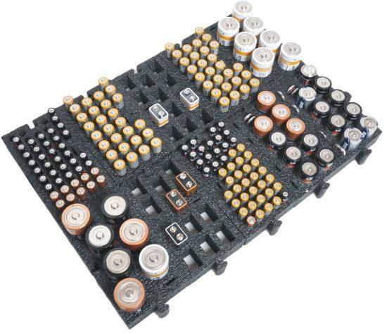 battery organizer drawer foam