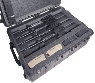 Custom Foam: 5 AR15 Rifle Case