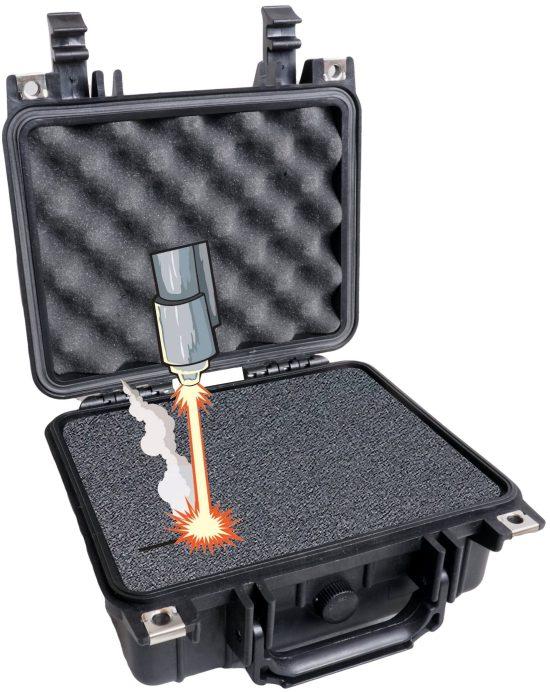 Case Club 1200 case with custom foam shown open